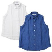 Ladie's /INDIVIDUALIZED SHIRT(インディビジュアライズドシャツ)NO SLEEVE LINEN/D97NLO