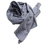 "Engineered Garments(エンジニアード ガーメンツ)""Long Scarf - Polka Dot Lawn"""