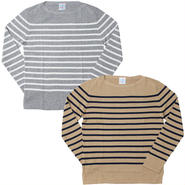 "UNISEX  /Letroyes(ルトロア)""SERGE BASQUE KNIT STRIPE"""