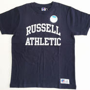 "RUSSELL PRO COTTON ""RUSSELL ATHLETIC LOGO""T ネイビー RC-197"