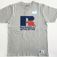 "RUSSELL PRO COTTON ""RUSSELL LOGO""T グレー RC-196"