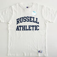 "RUSSELL PRO COTTON ""RUSSELL ATHLETIC LOGO""T ホワイト RC-197"
