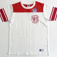 RUSSELL PRO COTTON フットボールT ホワイト× レッド RC-032