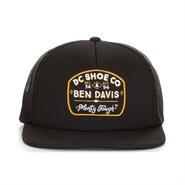 DC Shoes(ディーシーシューズ) X BEN DAVIS ベンデイビス BD TOUGH TRUCKER ブラック CAP HAT Black/Orange ブラック メッシュキャプ