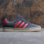 Adidas Busenitz Vulc ADV (gray/ dark solid grey / scarlet / gold) F37887 アディダススケートボーディング