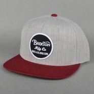 BRIXTON(ブリクストン) WHEELRE ウィーラーLIGHT HEATHER GREY/BURGUNDY スナップバックキャップ/ハット/CAP/SNAP BACK