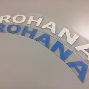 "TIRE STICKERS ""Rohana""ロゴ  ラバータイプ"
