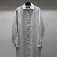 LOLO ロロ 40/1リネンロングシャツ アイスグレー