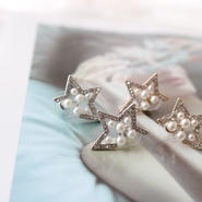 star pearl pierce/gold.silver