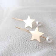 star hang pearl  pierce