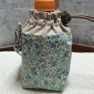350mlペットボトルホルダー グリーン花柄