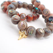 Wood×Abalone Shell Bracelet