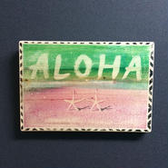 wood plate : ALOHA