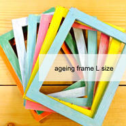 ageing WHITE frame [L size]