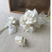 【布花】白アジサイの花指輪物語 BOX入り ¥37,800送料無料