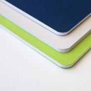 3色セット A5サイズ ノート SHIRUSU n 01/(藍、黄緑、薄いグレー)