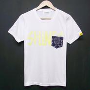 SHINES on Bandana - Pocket Tshirts:SHINES on バンダナ - ポケットTシャツ ホワイト