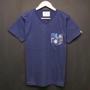 初回カラー数量限定! Colorful Botanical - Pocket Tshirts:カラーボタニカル - ポケットTシャツ ネイビー