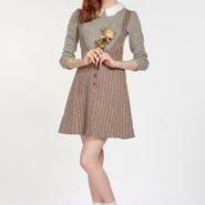 MissPatina/ミスパティーナ-クロスバック・ウールストライプジャンパースカート 【セール】【イギリス】【ロンドン】【TOPSHOP】【VOGUE】【TaylorSwift】