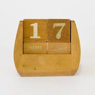 ヴィンテージ木製万年カレンダー