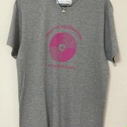 SBレコードモチーフプリントしっとりTシャツ グレー Mサイズ