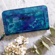 【受注製作】Balarm -Leather Long Wallet / Hand dyeing Blue