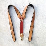 【受注製作】Kids Leather Suspenders -Fox-  M size