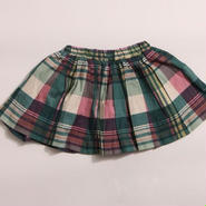 チェックふんわりスカート