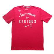 """【日本未発売】NIKE """"Summer is SERIOUS"""" T-Shirts (Pink / Right Grey)"""