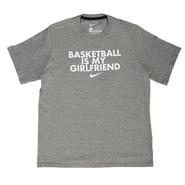 """【日本未発売】NIKE """"BASKETBALL IS MY GIRLFRIEND"""" T-Shirts (grey / white)"""