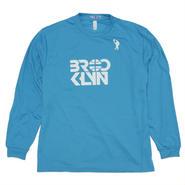 BROOKLYN Dri Long Sleeve T-Shirt (Turquoise / White)
