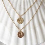 【Risusu Lenis】Initial  Stamp Necklace