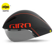 GIRO AEROHEAD MIPS Matte Black / Vermillion クールなままで時間に挑む トライアスロンやロングTT向けモデル