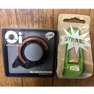 キャンペーン KNOG Oi LARGE  Copper knog STROBE Lime  ホワイトライト付き 数量限定・在庫限り。