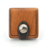 for coin case A 木と革のコインケース