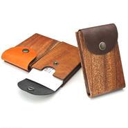 for card case02 木と革の名刺入れ02