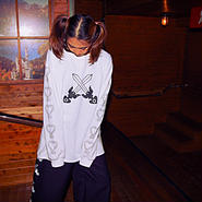 剣×縄 long sleeve T wh