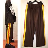 帆布 paint line pants/brown