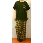 Y CHECK LINE WIDE PANTS