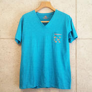 【RAFFAELLO】BLUE V NECK T-Shirt