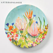 【Anthropologie】Lulie Wallace Melamine Dinner Plate ルーリー・ウォレス デイナープレート ターコイズ