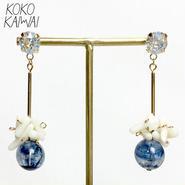 【KOKOKAIWAI】ハンドメイドピアス idea blue