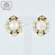【American Vintage】Earrings ヴィンテージイヤリング white from Los Angeles