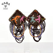【YAGA】Cushions Earrings Dance クッションピアス