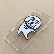 「飛んでるラッシー犬」のiPhoneケース 透明 5,5s 6用