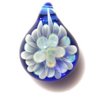 [MCN-35] mini clear flower pendant