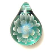 [MCN-40] mini clear flower pendant