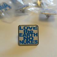 LOVE the EARTH NO NUKES pins
