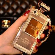 最安値★シャネル/CHANEL キラキラ チェーン付き香水瓶カバー iphone専用ケース SJ052