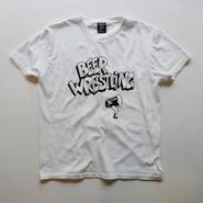 BEER WRESTLING tee-shirt (white/black)